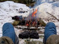 Solo Winter Cold Camp and Bushcraft – Ramona Lake, Western Uplands Trail, Algonquin Park